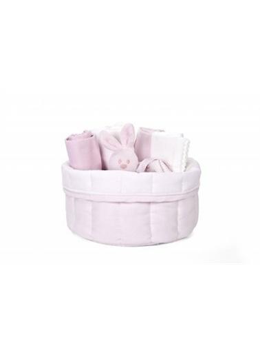 Poetree Kids Oxford Soft Pink Komodin Üstü Sepet  Pembe